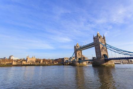 Tower Bridge on Sunny Day ,London United Kingdom Stock Photo