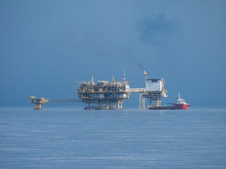 downstream: Central Processing Platform (CPP) in the middle of ocean