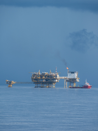 Central Processing Platform (CPP) in the middle of ocean