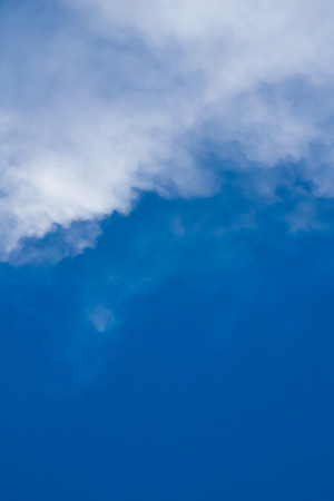 plating: The blue sky with the backdrop of contrasting clouds is an inviting image.