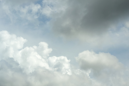 was: The day the sky was bright, the white clouds alternated in the air. Stock Photo
