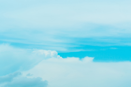 The blue sky with the backdrop of contrasting clouds is an inviting image.