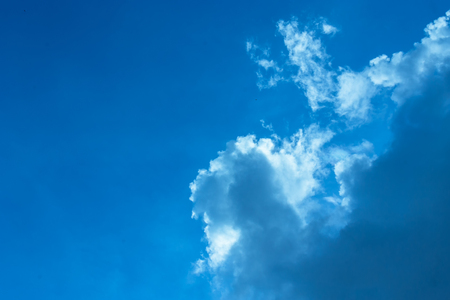 Blue background with some clouds. A refreshing day Stock Photo