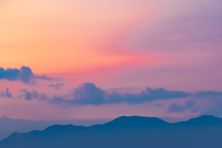 animate: Beautiful light from the nature at sunset every day. Stock Photo