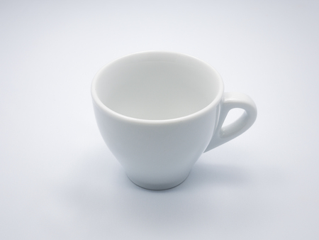 cofee cup: The empty white cofee cup in white background Stock Photo
