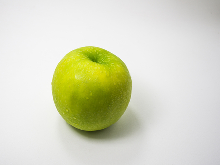 backgound: Green Apple on White backgound Stock Photo