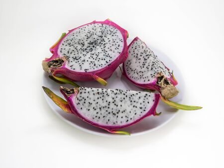 dragonfruit: Dragonfruit on white background isolate