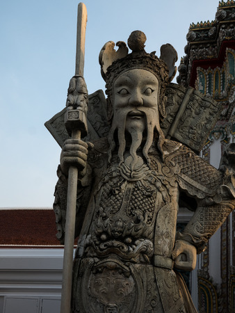 wat pho: Giant chinese guardian figure at Wat Pho