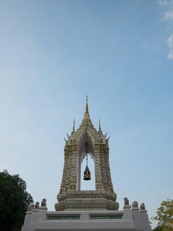 transcendental: Belfry in Wat Pho Bangkok