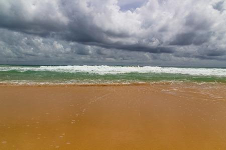 beach rain: Storm and Rain comming at the beach Stock Photo
