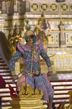 Thotsakan in The Royal Khon. Ramakien  is Thailands national epic