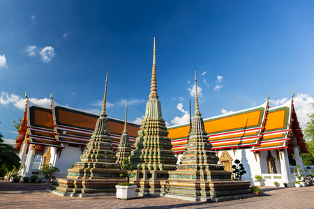 The pagoda at Wat Pho Bangkok, Thailand