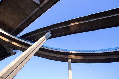 The background of transportation of complexity Expressway bridge
