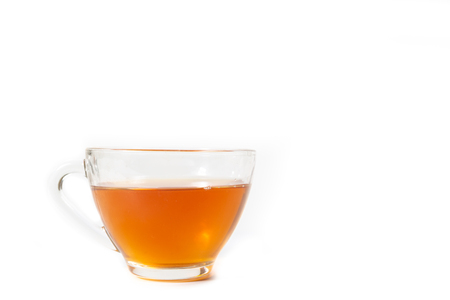 Cup of bael fruit tea white background
