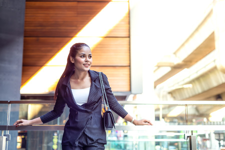Asian Beautiful business woman in the evening light