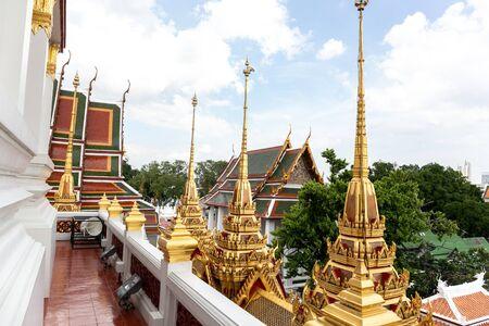 Temple, Loha Prasat - Wat Ratchanatda Bangkok,Thailand