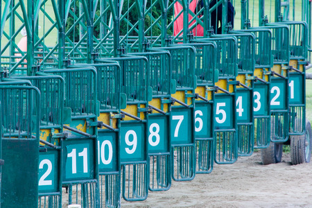 blinders: Racecourse Chiang Mai Thailand Stock Photo