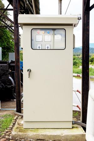 machinery on reading water storage photo