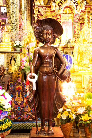 preceded: golden buddha,Chaing mai Thailand Editorial