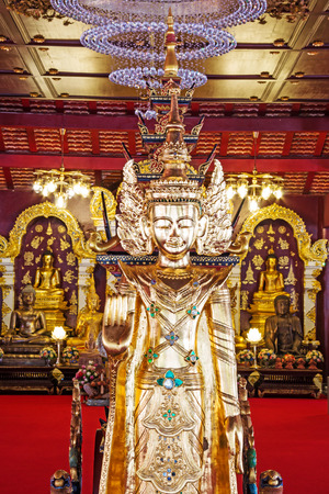 preceded: golden sitting buddha,Chaing mai Thailand