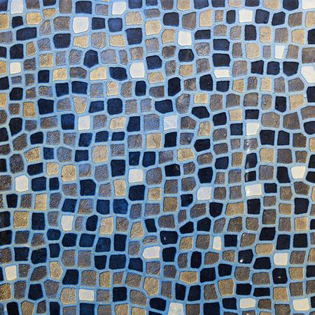 burgundy colour: mosaic tiles in burgundy Blue colour Stock Photo