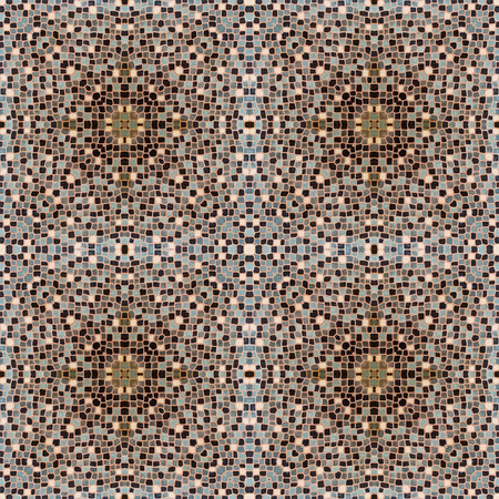 mosaic tiles in burgundy  brown colour photo