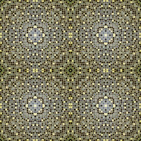 burgundy colour: mosaic tiles in burgundy Yellow colour Stock Photo