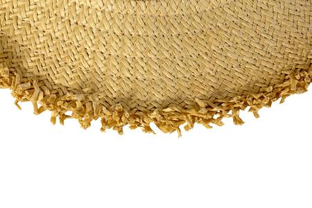 rattan mat: Half-Circled Rattan Mat on white background Stock Photo