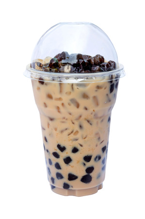 Café helado aislado sobre fondo blanco Foto de archivo - 36854601