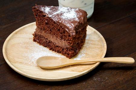gateau chocolat: Dark chocolate cake