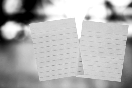 letter memo: note on window mirror, black and white.