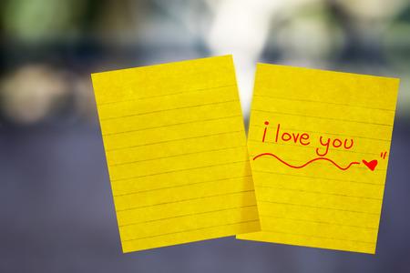 letter memo: note on window mirror