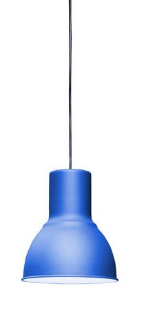Modern hanging lamp, isolated on white background. Standard-Bild