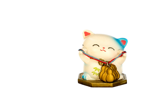 fareast: Japanese lucky cat Stock Photo