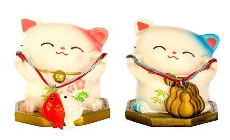 Japanese lucky cat Standard-Bild