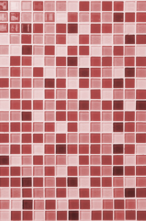 bathroom tiles: colored mosaic background tiles for bathroom Stock Photo