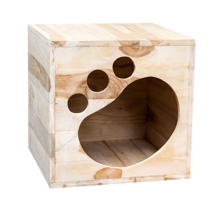 small wooden dog's house Standard-Bild