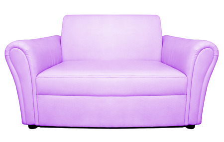bed sheets: sofa furniture isolated on white background Stock Photo