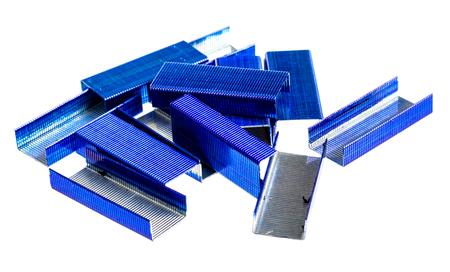 stapled: Stapler core  isolated on white background