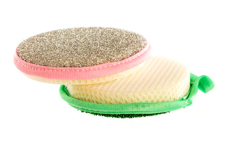 scour: Scouring pads on a white background