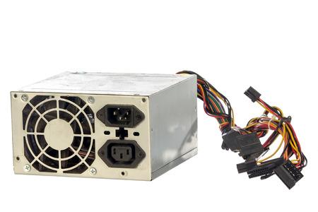 sata: Computer power supply unit isolated on white background