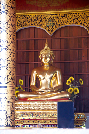 Golden statue , Image of Buddha, Asia , Thailand Editorial