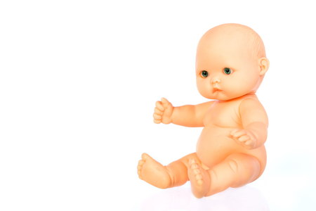 baby doll isolated on white background