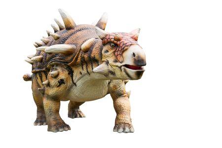 Dinosaur ankylosaurus and monster model Isolated white background Imagens