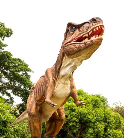 Dinosaur tyrannosaurus and monster model Isolated white background