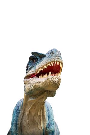 Dinosaur allosaurus and monster model Isolated white background Stock Photo