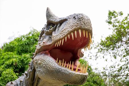 Dinosaur carnotaurus and monster model