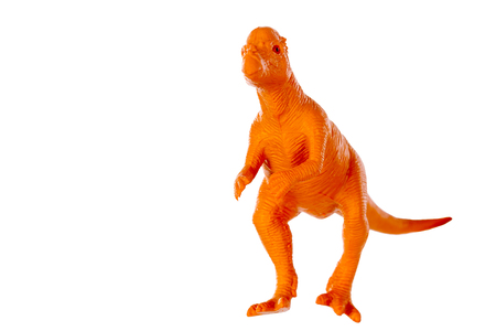 Pachycephalosaurus dinosaurs toy isolated on white background ,with clipping path Stock Photo