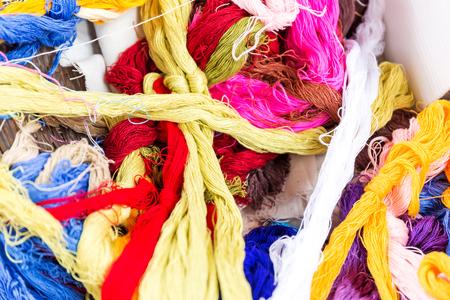 colour of silk weave handmade Standard-Bild - 115990716