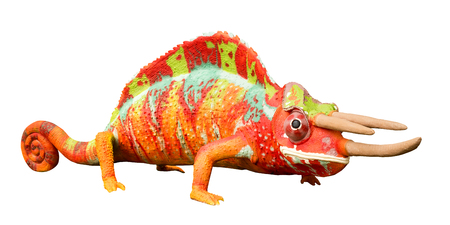 lizard iguana toy on white background